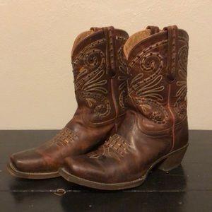 Tony Lamas Vaquero Short Leather Boots